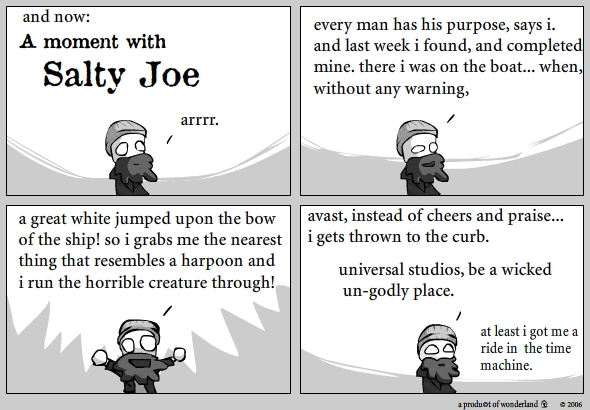 Salty joe: Purpose