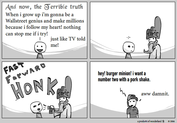 the terrible truth : Fast forward Honk