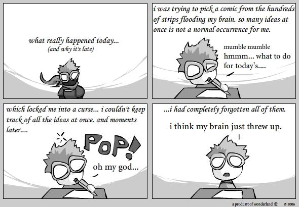 brain threw up