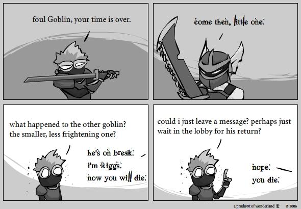ninja vs goblin : meet riggs