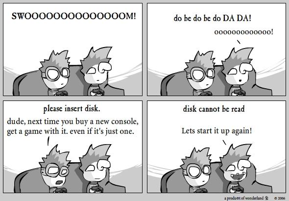 please insert disk