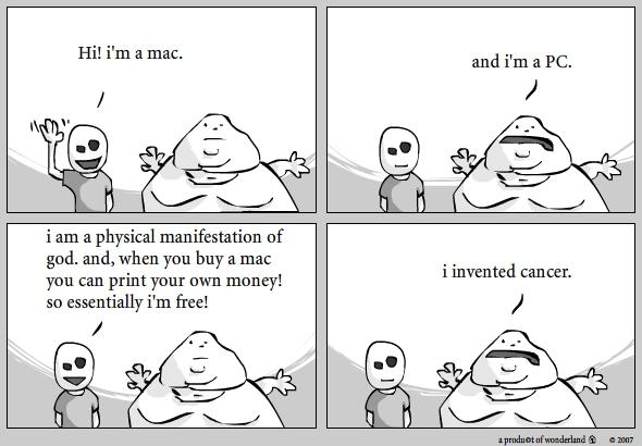 Mac vs PC : invented