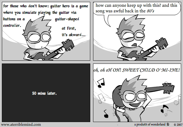 on Guitar hero