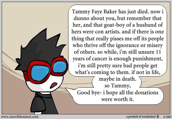 Goodbye Tammie Faye Baker