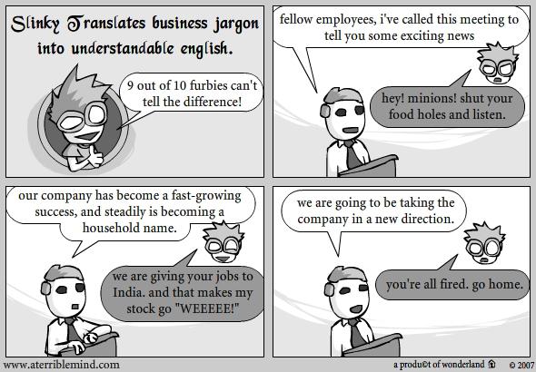 Jargon to english