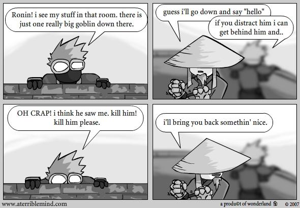 Ninja and Ronin vs goblins : Gear