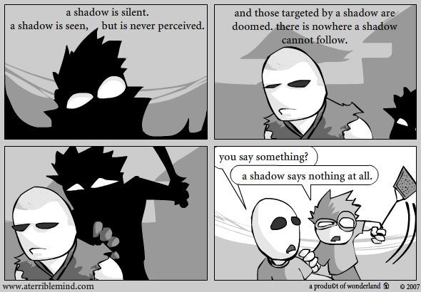 a shadow is silent