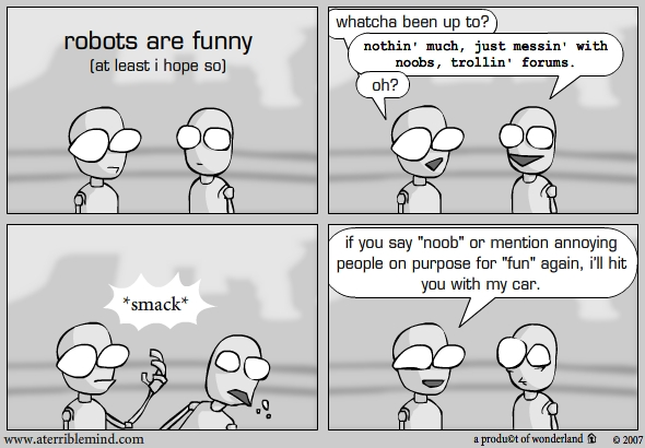 Robots are funny