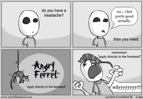 apply directly to the forehead