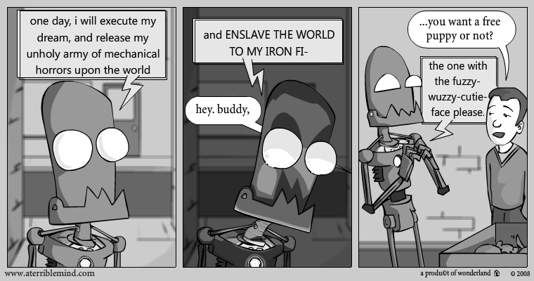 oh those silly robot dreams