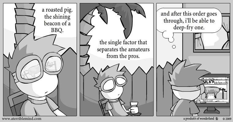 About pigs. and their roasting