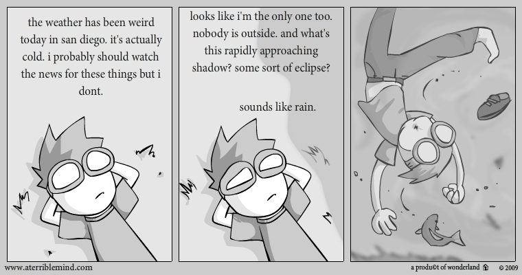 thoughts on whether the weather will change.