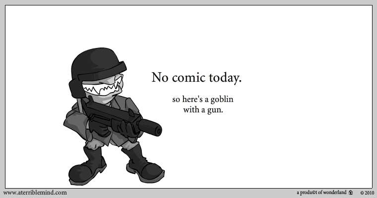 Goblin with gun