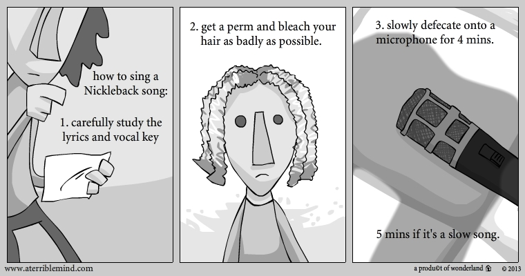 how to sing a Nickleback song