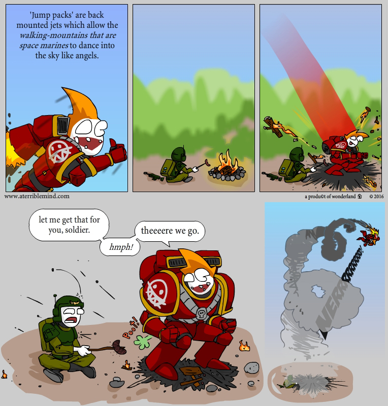 know your space marines: jump packs